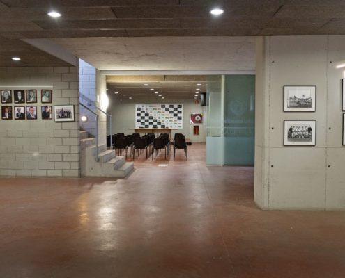 Recepción y acceso al área técnica estadio fútbol L'Hospitalet