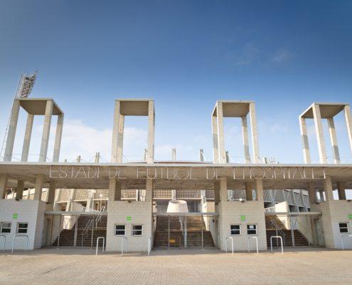 Exterior estadio fútbol L´Hospitalet