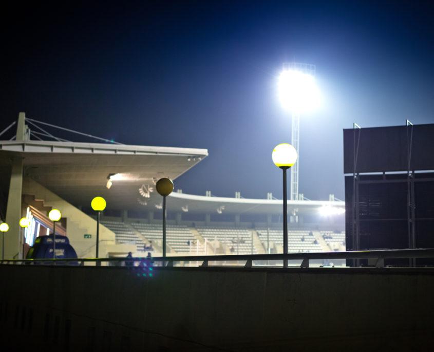 iluminación estadio municipal hospitalet para la Copa del Rey