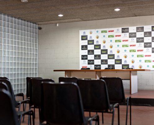 sala de prensa del estadio de futbol L'Hospitalet