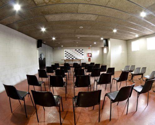 sala de prensa del estadio fútbol L'Hospitalet