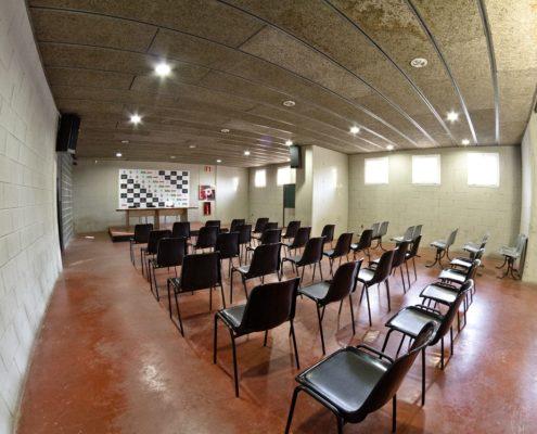 sala de prensa del estadio futbol L'Hospitalet